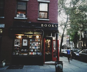 book, book shop, and city image