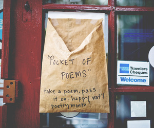 poem, pocket, and vintage image