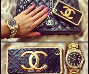chanel, watch, and bag image