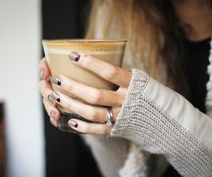 coffee, nails, and drink image