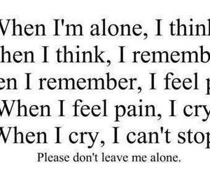 alone, pain, and cry image
