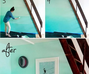 diy, blue, and paint image