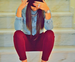 girl, pretty, and style image