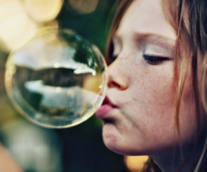 bubbles, girl, and freckles image