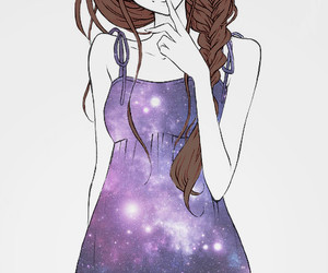 girl and space image
