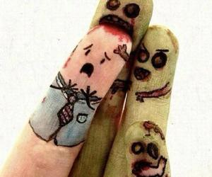 fingers, zombie, and zombies image