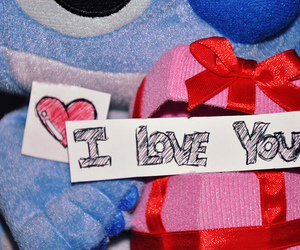 heart, I Love You, and stich image