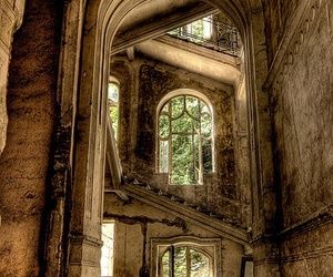 antique, pretty, and stairs image