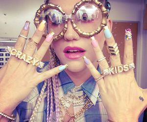 kesha, crazy kids, and nails image