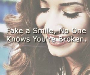 broken, smile, and demi lovato image