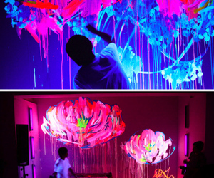 art, neon, and paint image