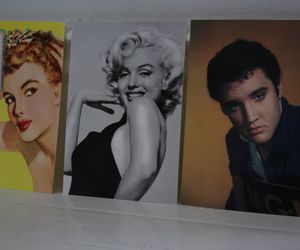 elvis, marlyn, and postcards image