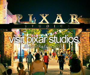 pixar, disney, and disneyland image