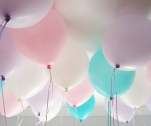 balloons, pastel, and cute image