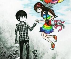 love, emo, and colors image