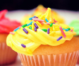 cupcake, food, and yellow image