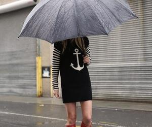 fashion, boots, and rain image