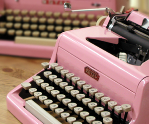 1950's, Letter, and pink image