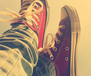 converse, red, and shoes image