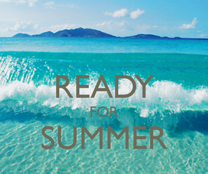 summer, ready, and sun image