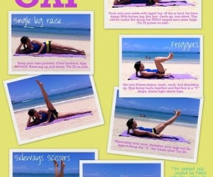 workout, fitness, and thigh gap image