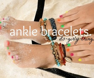 girly, anklets, and cute image