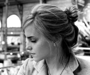 emma watson, black and white, and emma image