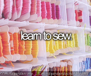 before i die, diy, and sewing image