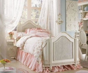 bedroom, pink, and vintage image