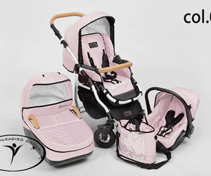 baby, retro, and stroller image