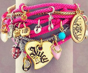 pink, bracelet, and juicy image