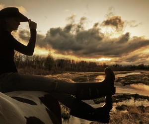 beauty, boots, and cowboy image