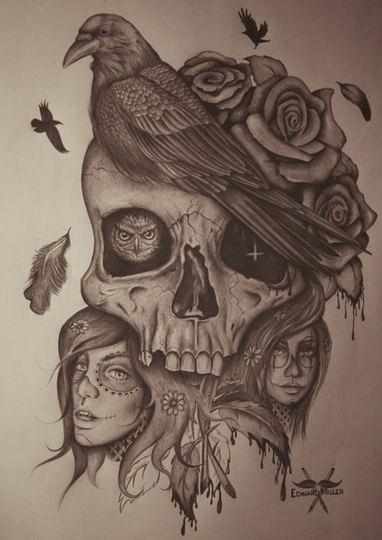 34 Images About Skull On We Heart It See More About Skull Art And