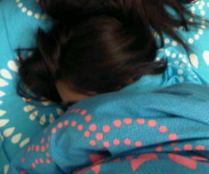 girl, photo, and sleep image