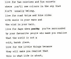 quotes, life, and little things image