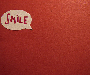 smile, red, and quote image