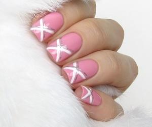 nails, nail art, and pink nails image