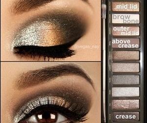 brown, cosmetic, and eye shadow image