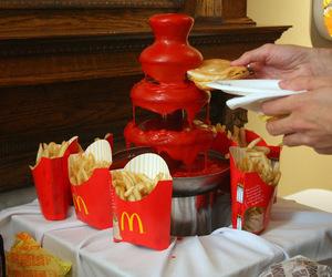 fontana, French Fries, and ketchup image
