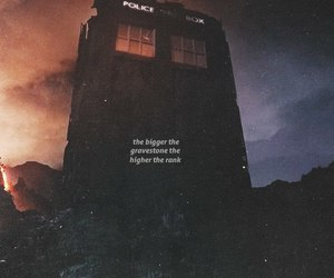 doctor who, gravestone, and tardis image