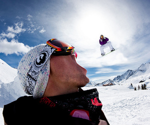 snow, photography, and snowboard image