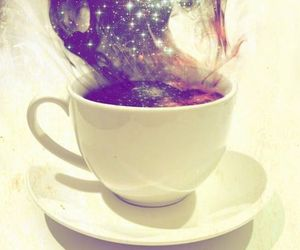 galaxy, cup, and coffee image