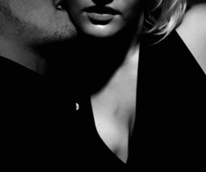 bdsm, black and white, and couple image