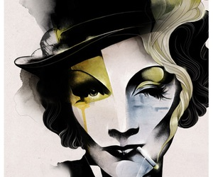Marlene Dietrich, art, and illustration image