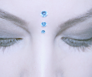 blue, eyes, and crystal image
