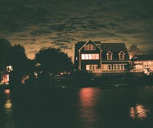 house, night, and beautiful image