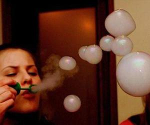 bubbles, smoke, and weed image