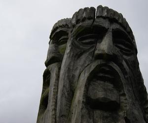 faces, pagan, and wood image