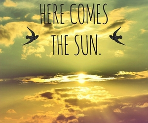 sun, quotes, and sky image
