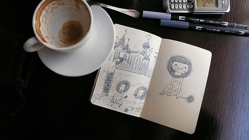 coffee, france, and sketch image